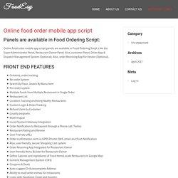 Online food order mobile app script - FoodEsy