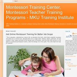 Get Online Montessori Training for Better Job Scope