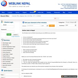 Part time Jobs in Nepal Student jobs in Nepal