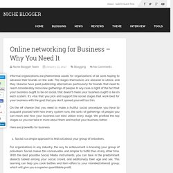 Online networking for Business - Why You Need It