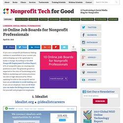 10 Online Job Boards for Nonprofit Professionals