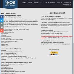 HHA Online Course - Nursing Certifications Online