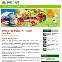 Online Food Order At Ratlam Junction