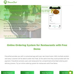 Online Ordering System for Restaurants with Free Demo