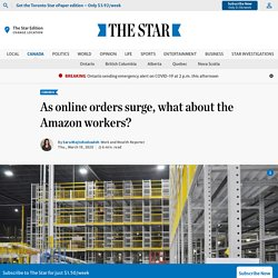 As online orders surge, what about the Amazon workers?