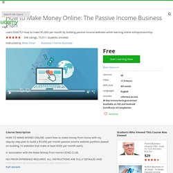How to Make Money Online: The Passive Income Business Plan