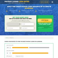 Online Payday Loans in Alabama