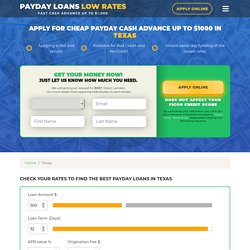 Online Payday Loans in Texas