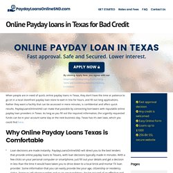 Online Payday loans in Texas - PaydayLoansOnlineSND