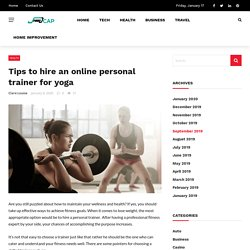 Benefits of Hire a Personal Trainer for Yoga