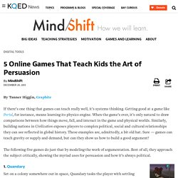 5 Online Games That Teach Kids the Art of Persuasion