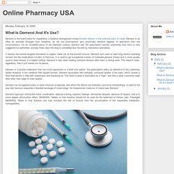 Online Pharmacy USA: What Is Demerol And It's Use?