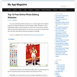 Top 15 Free Online Photo Editing Websites