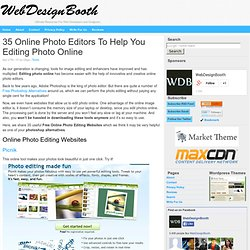 35 Online Photo Editors To Help You Editing Photo Online