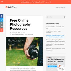 Free Online Photography Resources