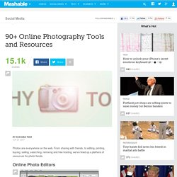 90 Online Photography Tools and Resources