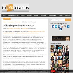SOPA (Stop Online Piracy Act)