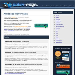 Best online poker player stats