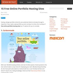 15 Free Online Portfolio Hosting Sites
