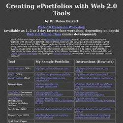 Online Portfolio Tools