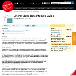 Online Video Best Practice Guide