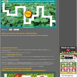 Online preschool maze games: Ladybug Maze
