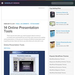 14 Online Presentation Tools