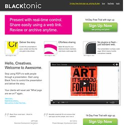 Online Web-Based Presentations with Real-Time Control | Black Tonic