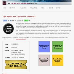 Online Hate Prevention Institute » FAH Launch Event: Sydney 2014