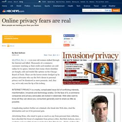Online privacy fears are real