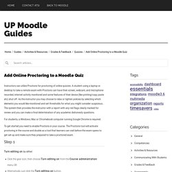 Add Online Proctoring to a Moodle Quiz