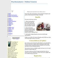 Online Psychoanalysis Courses
