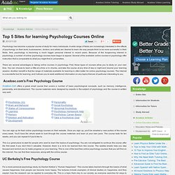 Best Place to Learn Psychology Online