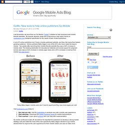 New tools to help online publishers Go Mobile