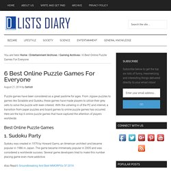 6 Best Online Puzzle Games For Everyone - Lists Diary
