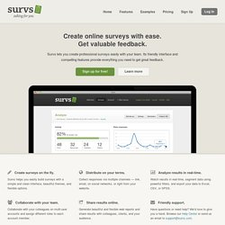 Survs - Online Survey Tool, Collaborative Web Survey Software