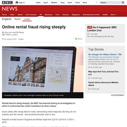 Online rental fraud rising steeply