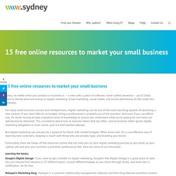 15 free online resources to market your small business - iconic.sydney