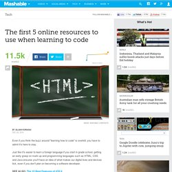 The first 5 online resources to use when learning to code