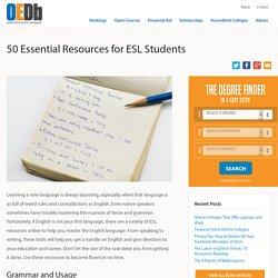 50 Essential Resources for ESL Students