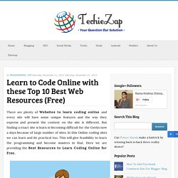 Learn to Code Online with these Top 10 Best Web Resources (Free)