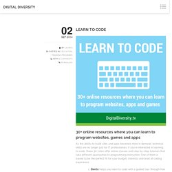 28 online resources where you can learn to code