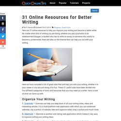 31 Online Resources for Better Writing
