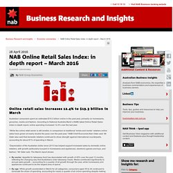 NAB Online Retail Sales Index: in depth report – March 2016