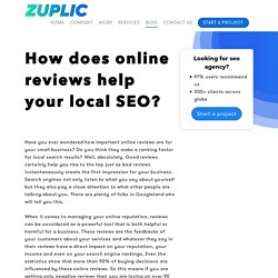 How does online reviews help your local SEO? - Zuplic