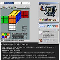 Online Rubiks Cube Solver program