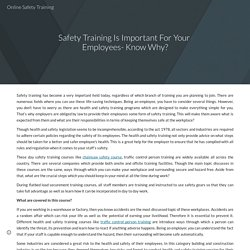 Safety Training Is Important For Your Employees- Know Why?
