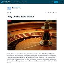 Play Online Satta Matka: chavdarajan994