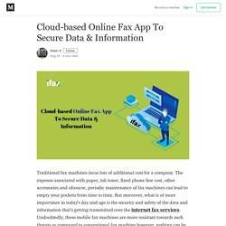 Cloud-based Online Fax App To Secure Data & Information