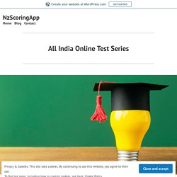 All India Online Test Series – NzScoringApp